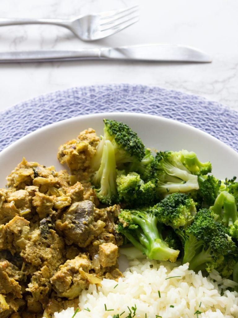 vegan kip met cashew-roomsaus